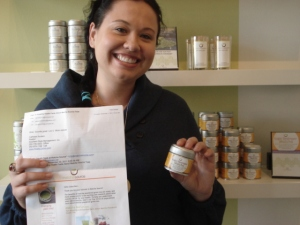 Angela discovered matcha tea in the Black Book of Hollywood Diet Secrets
