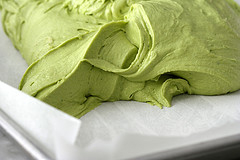 Green Tea Cupcakes Topped with Green Tea Buttercream Frosting Recipe : : Food Network