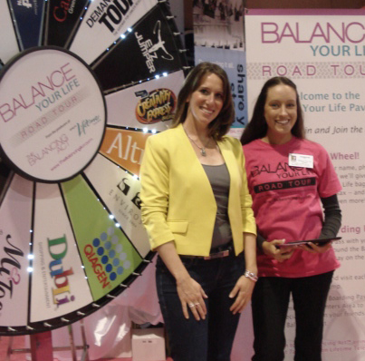 With Balancing Act Team at Giveaway Wheel
